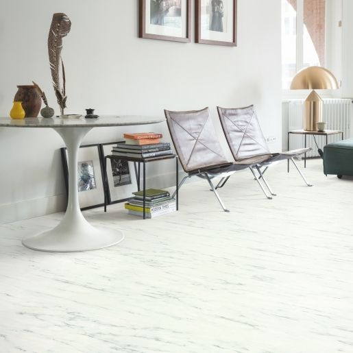 Quick-Step Livyn Ambient Rigid Click Plus Marble Carrara White RAMCP40136 Luxury Vinyl Flooring