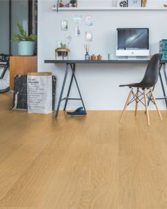 Quick-Step Vinyl Alpha Vinyl Medium Planks Pure Oak Honey AVMP40098 Rigid Vinyl Flooring
