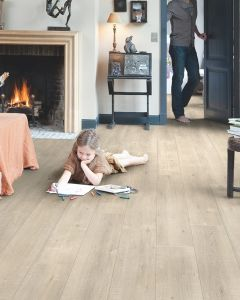 Quick-Step Impressive IM1857 Saw Cut Oak Beige 8mm AC4 Laminate Flooring