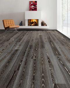 HARO PARQUET 4000 Plank 1-Strip 2V Ash Fancy Brushed naturaLin plus 530945 Engineered Flooring