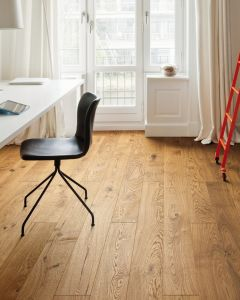HARO PARQUET 4000 Plank 1-strip Plaza 4V Oak Sauvage brushed naturaLin plus Top Connect 536975 Engineered Flooring