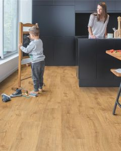 Quick-Step Vinyl Alpha Vinyl Medium Planks Autumn Oak Honey AVMP40088 Rigid Vinyl Flooring