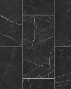 FAUS Industry Tiles Black Marble S180239 8mm AC6 Laminate Flooring