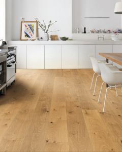 HARO PARQUET 4000 Plank 1-strip Plaza 4V Oak Universal alpin brushed naturaLin plus Top Connect 538966 Engineered Flooring