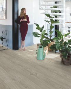 Quick-Step Livyn Pulse Click Plus Cotton Oak Warm Grey PUCP40105 Luxury Vinyl Flooring
