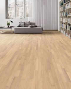 HARO PARQUET 4000 Longstrip Oak Puro White Trend Brushed naturaLin plus 533343 Engineered Flooring