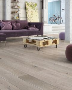 Explora Engineered Oak Alaska White Matt Lacquered 4V Bevelled 130mm 5G Click BF42 Engineered Flooring