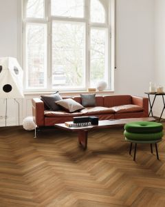 HARO PARQUET 4000 Strip Allegro Smoked Oak permaDur Tongue and groove 537902 Engineered Flooring