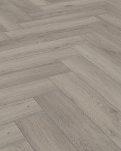 Kronotex Herringbone Oak Silver D3773 8mm AC4 Laminate Flooring