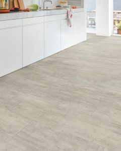 Quick-Step Livyn Ambient Glue Plus Light Grey Travertin AMGP40047 Luxury Vinyl Flooring