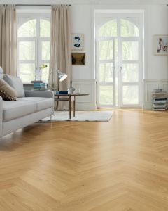 HARO PARQUET 4000 Strip Allegro Oak terra permaDur Tongue and groove 537905 Engineered Flooring