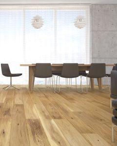 Basix Engineered Click 1 Strip Oak Natural Bevelled Matt Lacquered BF01 Engineered Flooring