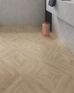 Quick-Step Impressive Patterns Chevron Oak Taupe IPA4164 8mm AC4 Laminate Flooring