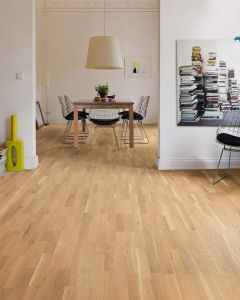 HARO PARQUET 4000 Longstrip Oak Puro White Favorit Brushed naturaLin plus 530139 Engineered Flooring