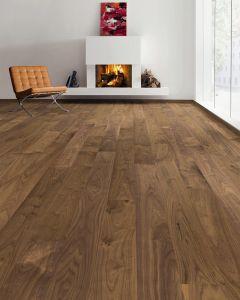 HARO PARQUET 4000 Plank 1-Strip 2V American Walnut Universal permaDur Top Connect 535935 Engineered Flooring
