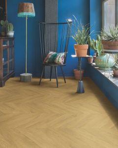 Quick-Step Impressive Patterns Chevron Oak Natural IPA4161 8mm AC4 Laminate Flooring