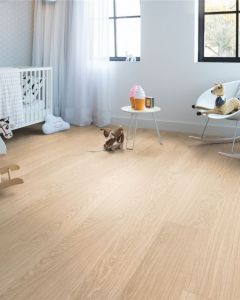 Quick-Step Vinyl Alpha Vinyl Medium Planks Pure Oak Blush AVMP40097 Rigid Vinyl Flooring