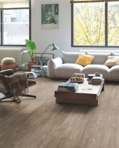 Quick-Step Livyn Balance Click Plus Canyon Oak Dark Brown With Saw Cuts BACP40059 Luxury Vinyl Flooring