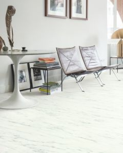 Quick-Step Livyn Ambient Glue Plus Marble Carrara White AMGP40136 Luxury Vinyl Flooring