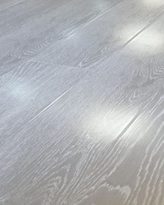 Explora Vintage High Gloss Light Grey Oak 8mm AC4 Laminate Flooring