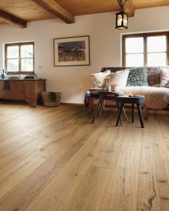 HARO PARQUET 4000 Plank 1-Strip 4V Oak Alabama Brushed naturaLin plus 529587 Engineered Flooring
