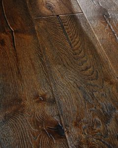 Chene Premium Engineered Collection 15/4 Antique Distressed Black 220mm Flooring