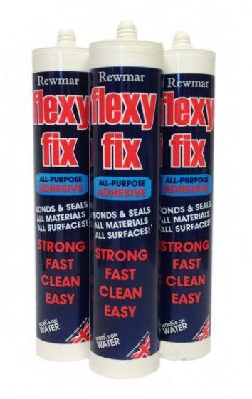 Rewmar Flexyfix 290ml All Purpose Adhesive (1 Box of 12 Cartridges)