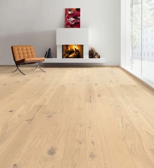 HARO PARQUET 4000 Plank 1-Strip 2V Oak invisible Sauvage brushed naturaDur Top Connect 535446 Engineered Flooring