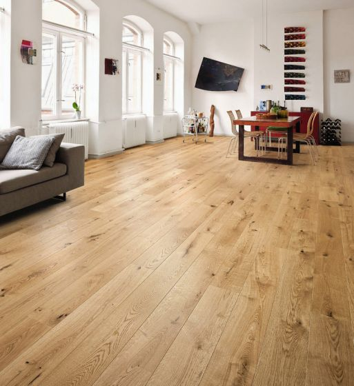HARO PARQUET 4000 Plank 1-Strip 2V Oak Sauvage Brushed naturaDur 535448 Engineered Flooring