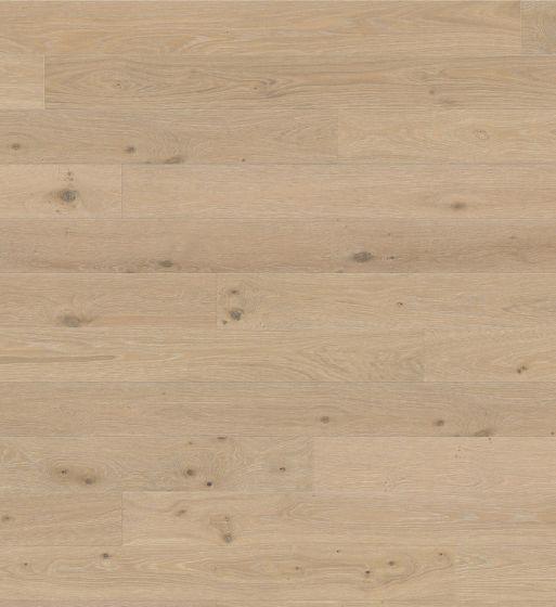 HARO PARQUET 4000 Plank 1-Strip Oak Creme White limewashed Sauvage Brushed naturaLin plus 535542 Engineered Flooring