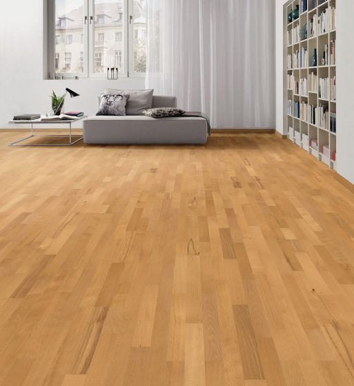 HARO PARQUET 4000 Longstrip Beech Steamed Favorit Brushed naturaLin plus 535563 Engineered Flooring
