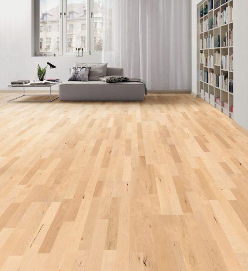 HARO PARQUET 4000 Longstrip Canadian Maple Favorit permaDur 524406 Engineered Flooring