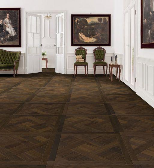 parkettmanufaktur by HARO PARQUET 18mm Tiles Basket 4V Amber Smoked Oak oleovera Tongue and groove 535305