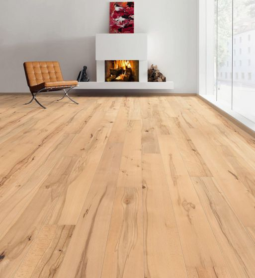 HARO PARQUET 4000 Plank 1-Strip 2V Beech Steamed Universal naturaDur 535451 Engineered Flooring