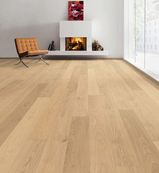 HARO PARQUET 4000 Plank 1-Strip 4V Oak Puro Invisible Markant Brushed naturaLin plus 535617 Engineered Flooring