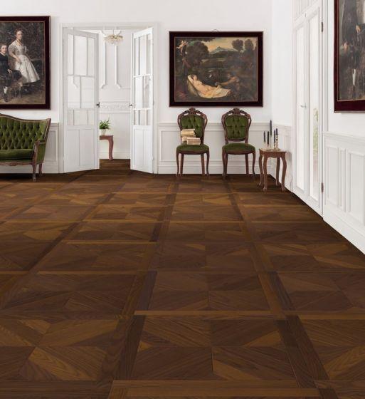 parkettmanufaktur by HARO PARQUET 18mm Tiles Central 4V Ash Arabica Mezzo oleovera Tongue and groove 535321