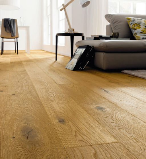 HARO PARQUET 4000 Plank 1-Strip 4V Oak Sauvage Retro Brushed naturaLin plus 530793 Engineered Flooring