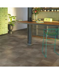 Quick-Step Vinyl Alpha Vinyl Tiles Oxidized Rock AVST40235 Rigid Vinyl Flooring