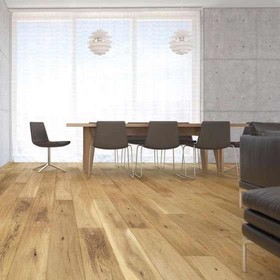 Explora Engineered 1 Strip Oak Natural Bevelled Matt Lacquered BF01 Engineered Flooring