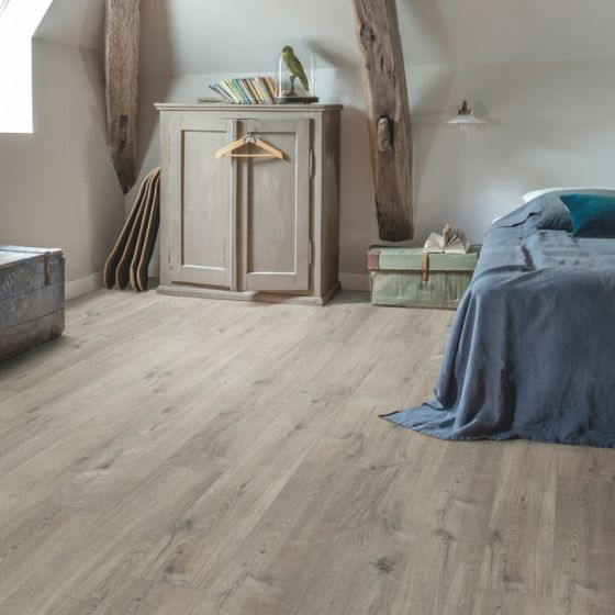 Quick-Step Livyn Pulse Click Cotton Oak Grey With Saw Cuts PUCL40106 Luxury Vinyl Flooring