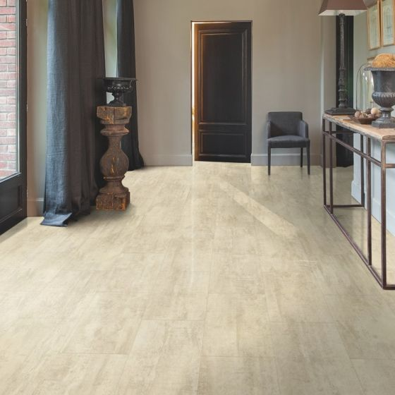 Quick-Step Livyn Ambient Glue Plus Cream Travertin AMGP40046 Luxury Vinyl Flooring