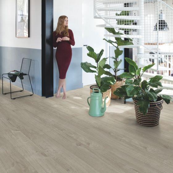 Quick-Step Livyn Pulse Click Cotton Oak Warm Grey PUCL40105 Luxury Vinyl Flooring