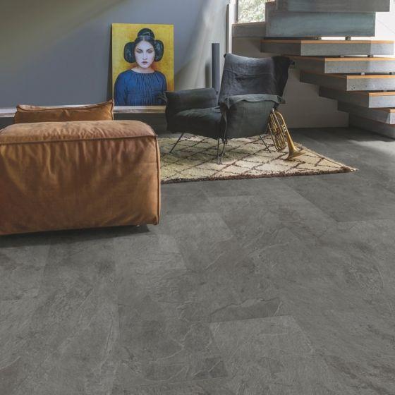 Quick-Step Livyn Ambient Click Grey Slate AMCL40034 Luxury Vinyl Flooring